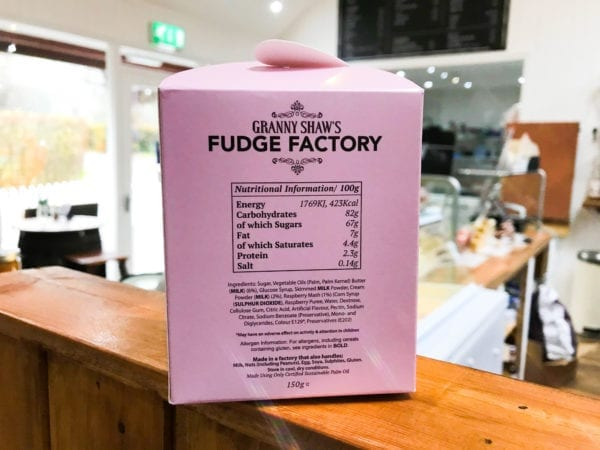 Raspberry Ripple Fudge - Granny Shaws Fudge
