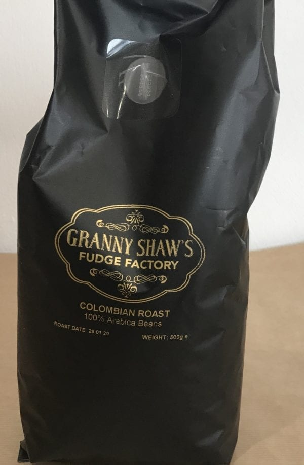 Roast Columbian Coffee Beans - Granny Shaws Fudge
