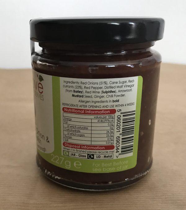 Caramelised Red Onion & Redcurrant Relish- Granny Shaws Fudge