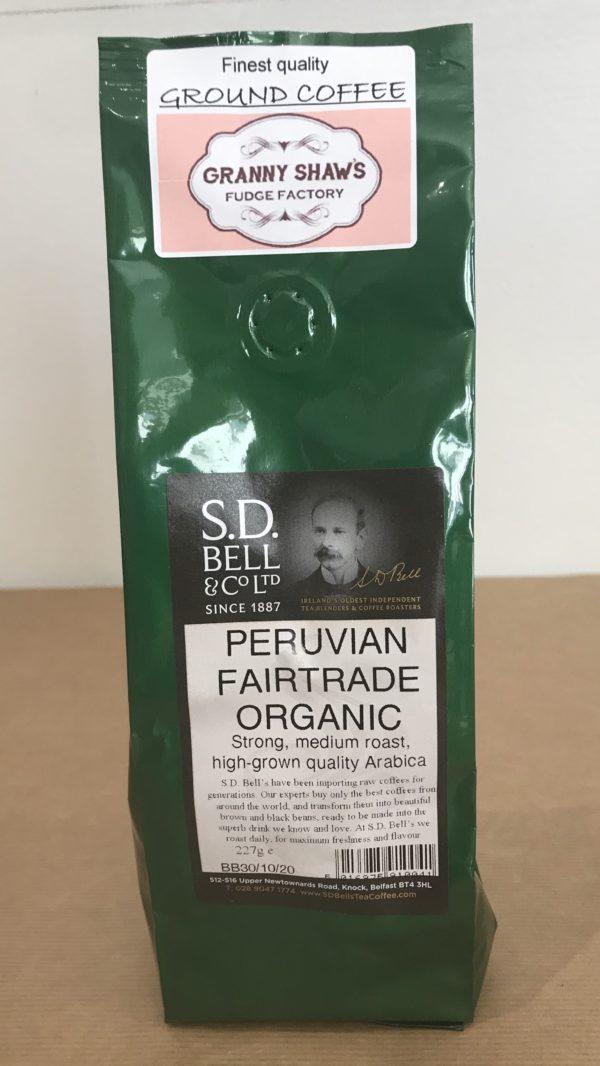 Peruvian Fairtrade Organic Ground Coffee - Granny Shaws Fudge