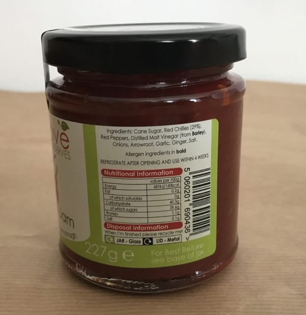 Sweet Chilli Jam - Granny Shaws Fudge