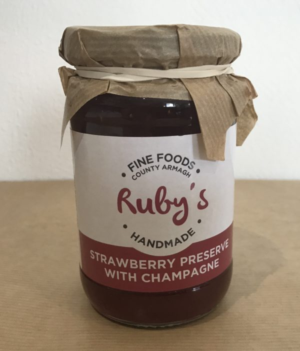 Ruby's Strawberry Preserve with Champagne - Granny Shaws Fudge
