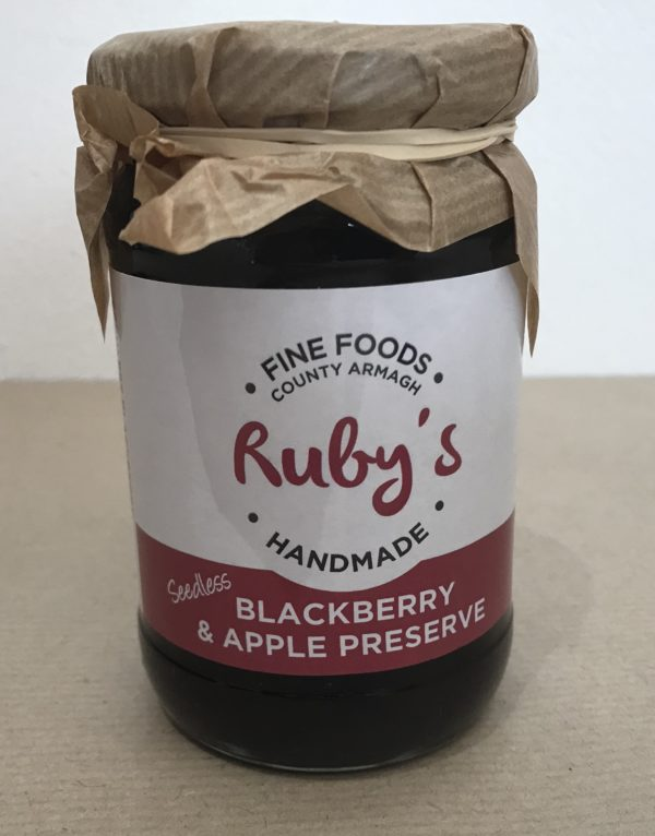 Ruby's Seedless Apple and Blackberry Preserve- Granny Shaws Fudge