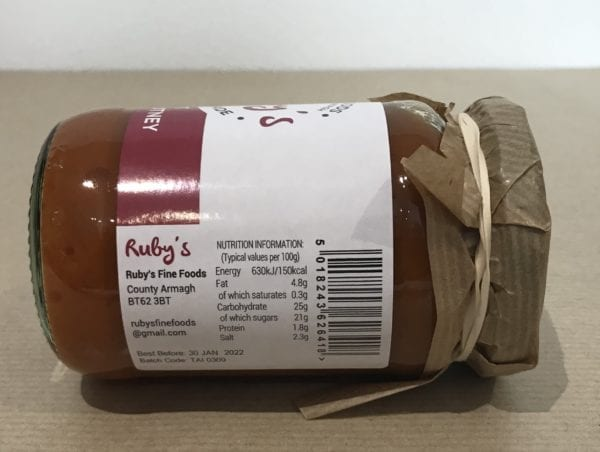Ruby's Hot Thai Chutney - Granny Shaws Fudge